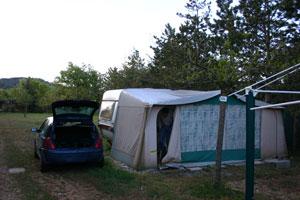 Onze tent in Frankrijk