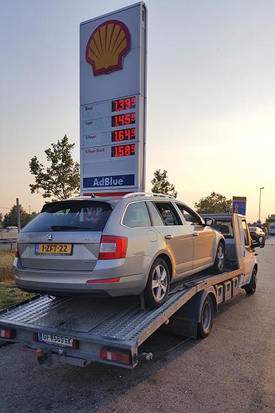 Auto pech in Hongarije