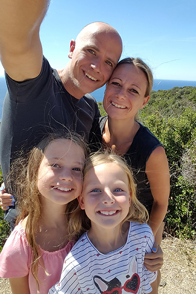 Met de familie op Corsica