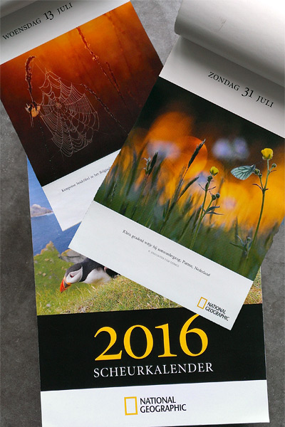 National Geographic scheurkalender 2016